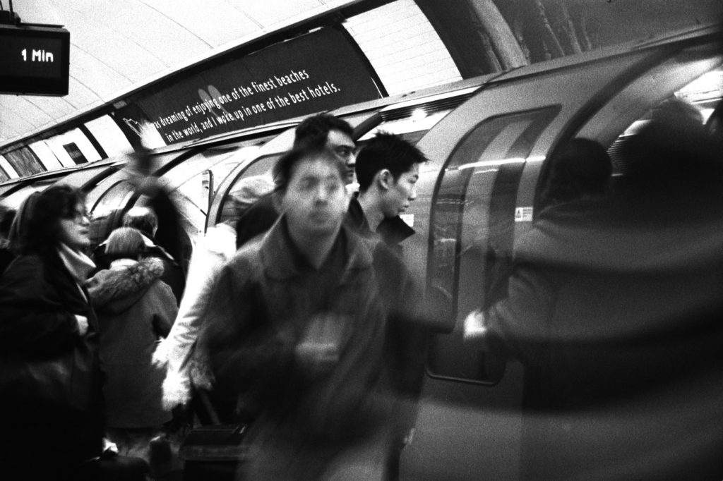 1 minute, rush hour at London Tube