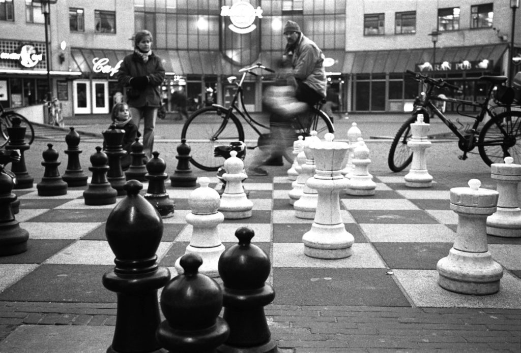 Giant chess, Amsterdam