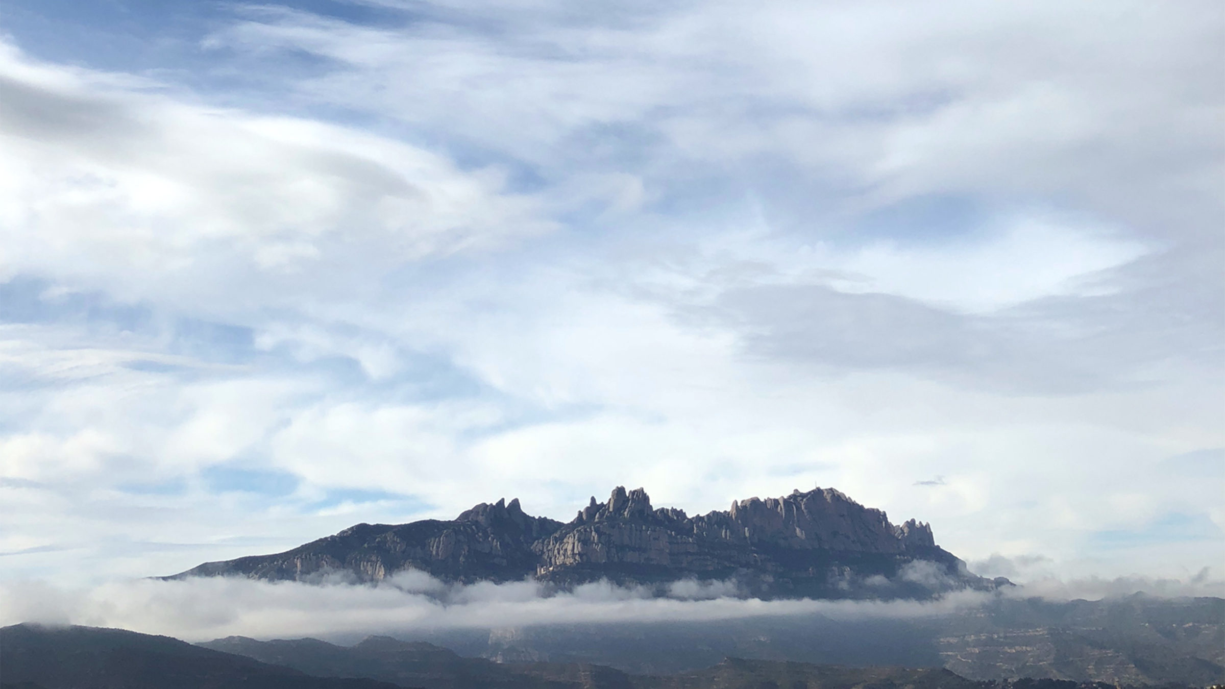Montserrat mountain from Vacarisses by Laura Moreno