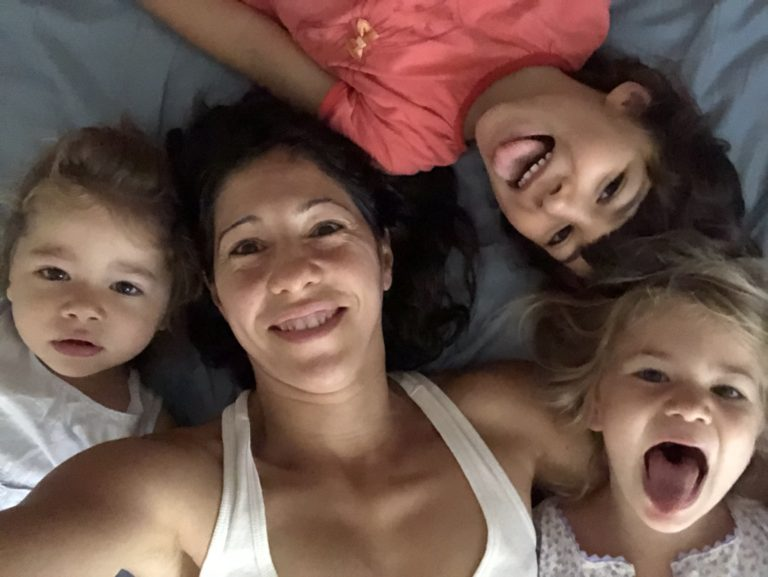 Laura Moreno with her kids on a fun picture